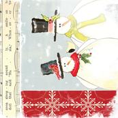 Christmas tea towel wall hanging snowmen terriconraddesigns