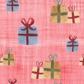 present red linen