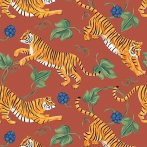 Tiger and  blackberry