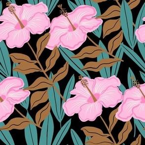 Tropical hibiscus - dark