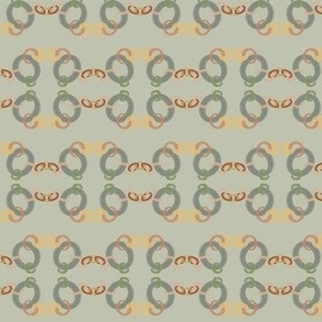 Copper Chain on grey green
