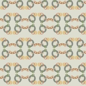Copper Chain 3  on pale green