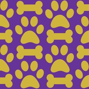 Purple and Gold Pet Fabric