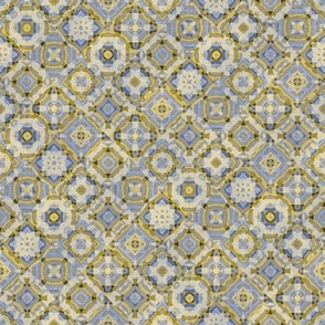 Water Tiles//Gold & Blue//Small Scale