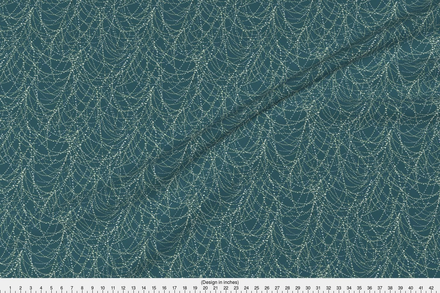 Spider-spider-web-with-morning-dew-Fabric-Printed-by-Spoonflower-BTY