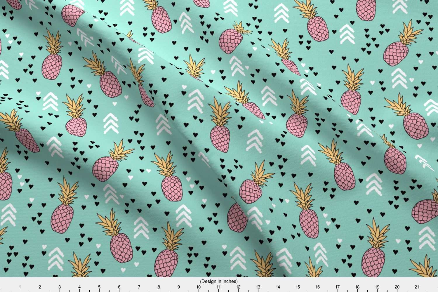 51a6fb91 Pineapple Fruit Summer Geometric Tropical Fabric Printed by ...