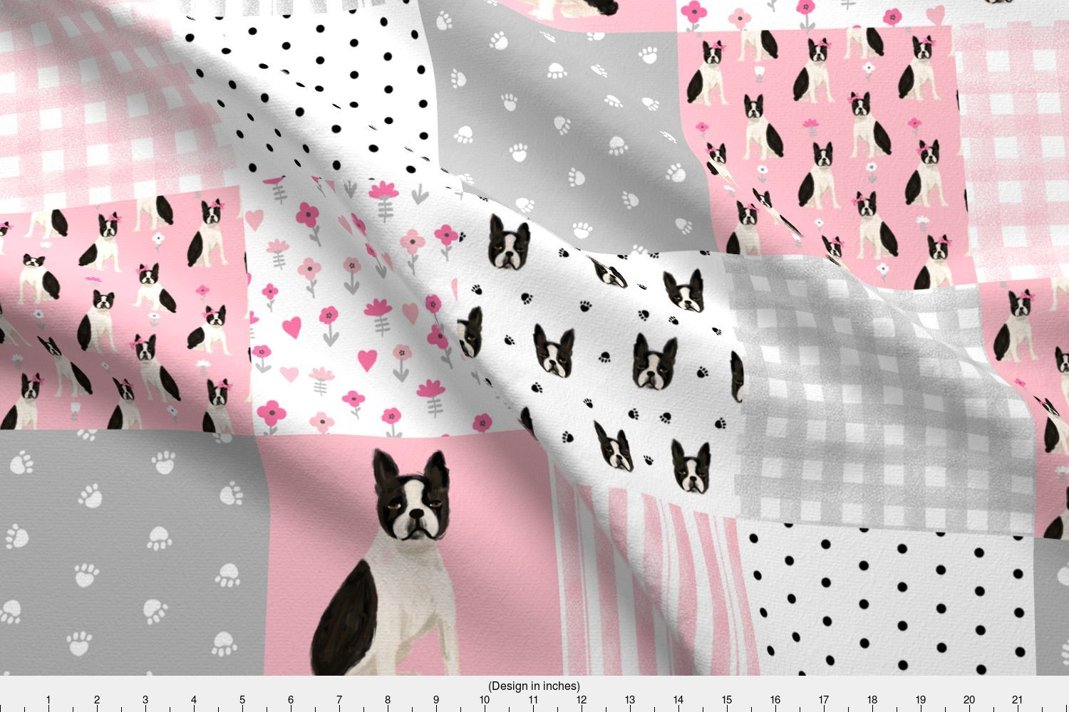 Boston Terrier Dog Dogs Dog Nursery Fabric Printed by Spoonflower ... fc379a040