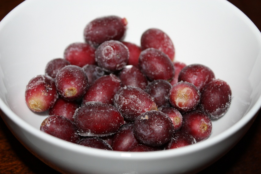 frozen grapes snack