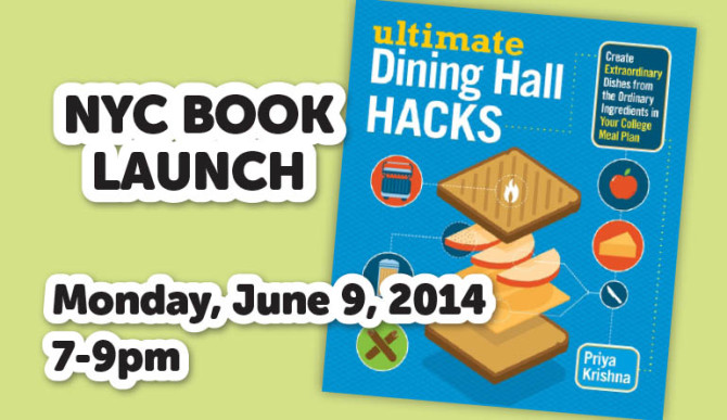 REGISTER HERE for Ultimate Dining Hall Hacks' Book Launch