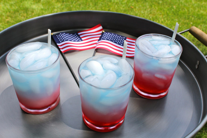 Red, White and Blue Punch to Celebrate Fourth of July