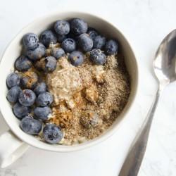 Chia and Flaxseed Microwave Oatmeal