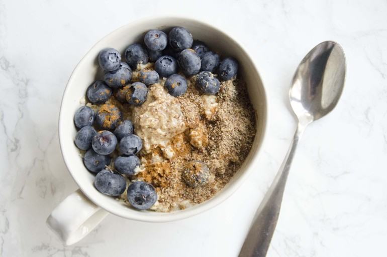 Chia and Flaxseed Microwave Oatmeal
