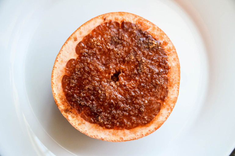 Cinnamon, Ginger & Brown Sugar-Baked Grapefruit