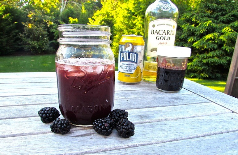 Blackberry Shrub drink