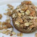 Banana Blender Muffins with Peanut Butter Crumb Topping