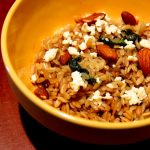 Spinach, Feta and Almond Orzo