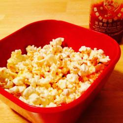 Homemade Sriracha Popcorn