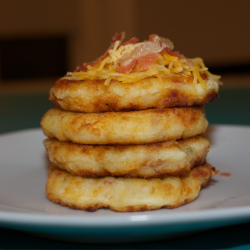 Bacon And Cheese Leftover Mashed Potato Pancakes