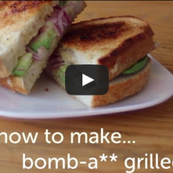 How to Make a Bomb-Ass Grilled Cheese with Avocado and Red Onion