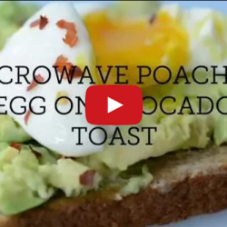 Create Dope Avocado Toast By Poaching an Egg in the Microwave