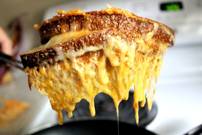 17. Cheese-Encrusted Grilled Cheese