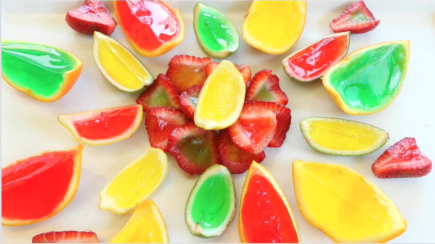 Jello shots with fruit inside - Ingredients