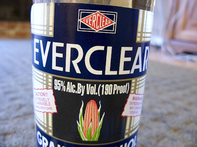 what percent alcohol is everclear