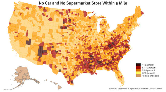 The Shocking Truth About Food Deserts And American Obesity - Obesity map us