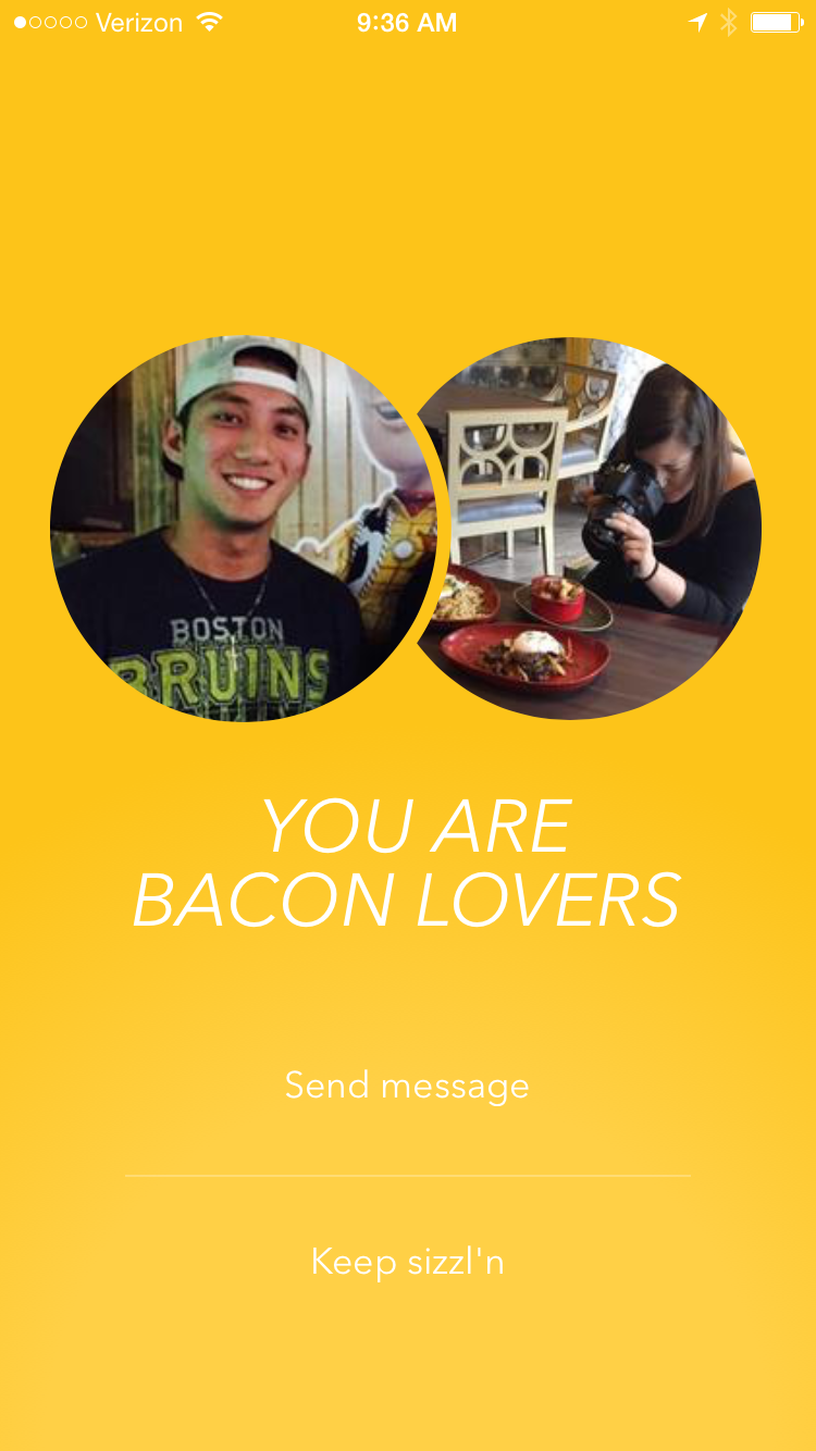 Sizzle bacon dating app