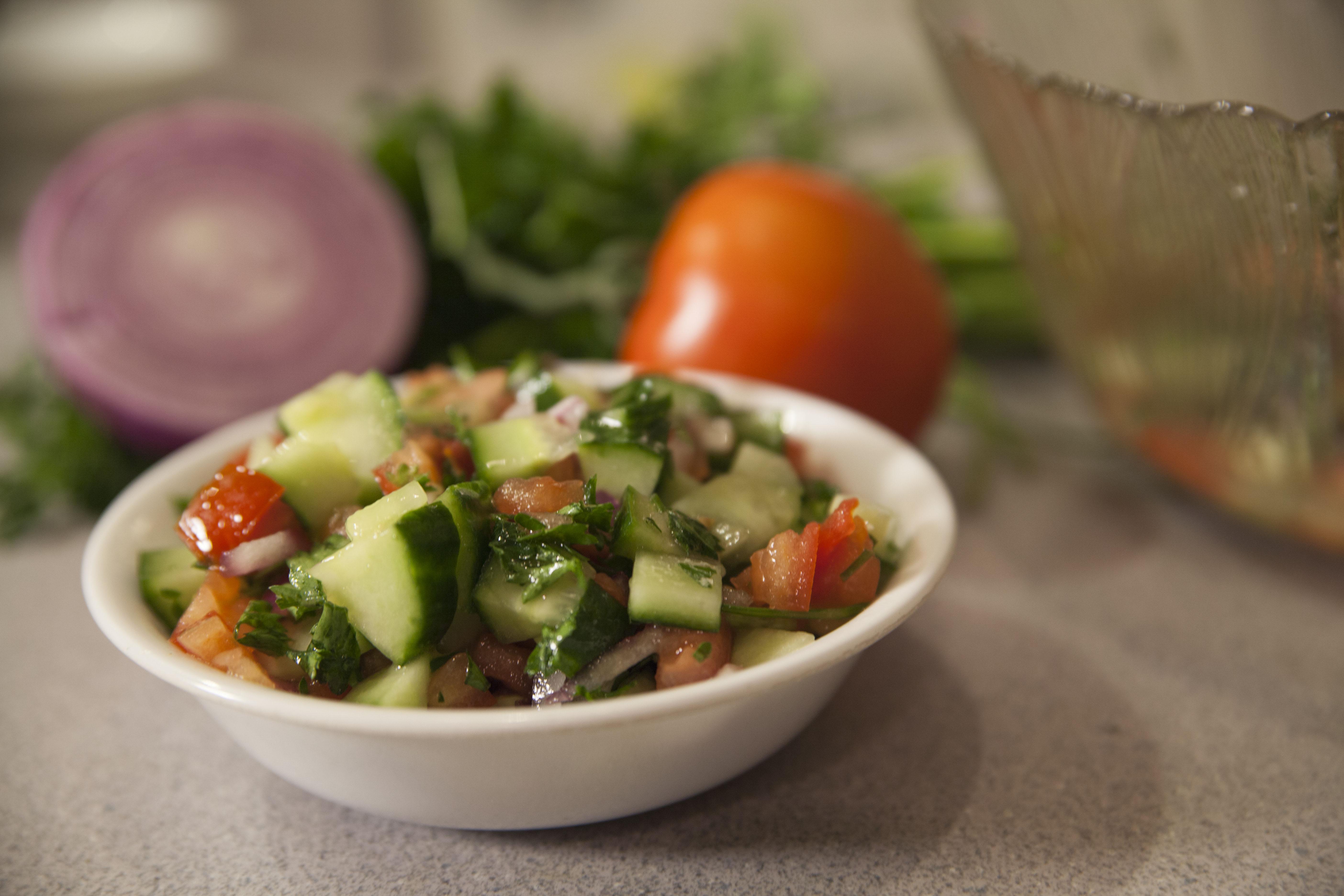 How to Make Traditional Israeli Salad