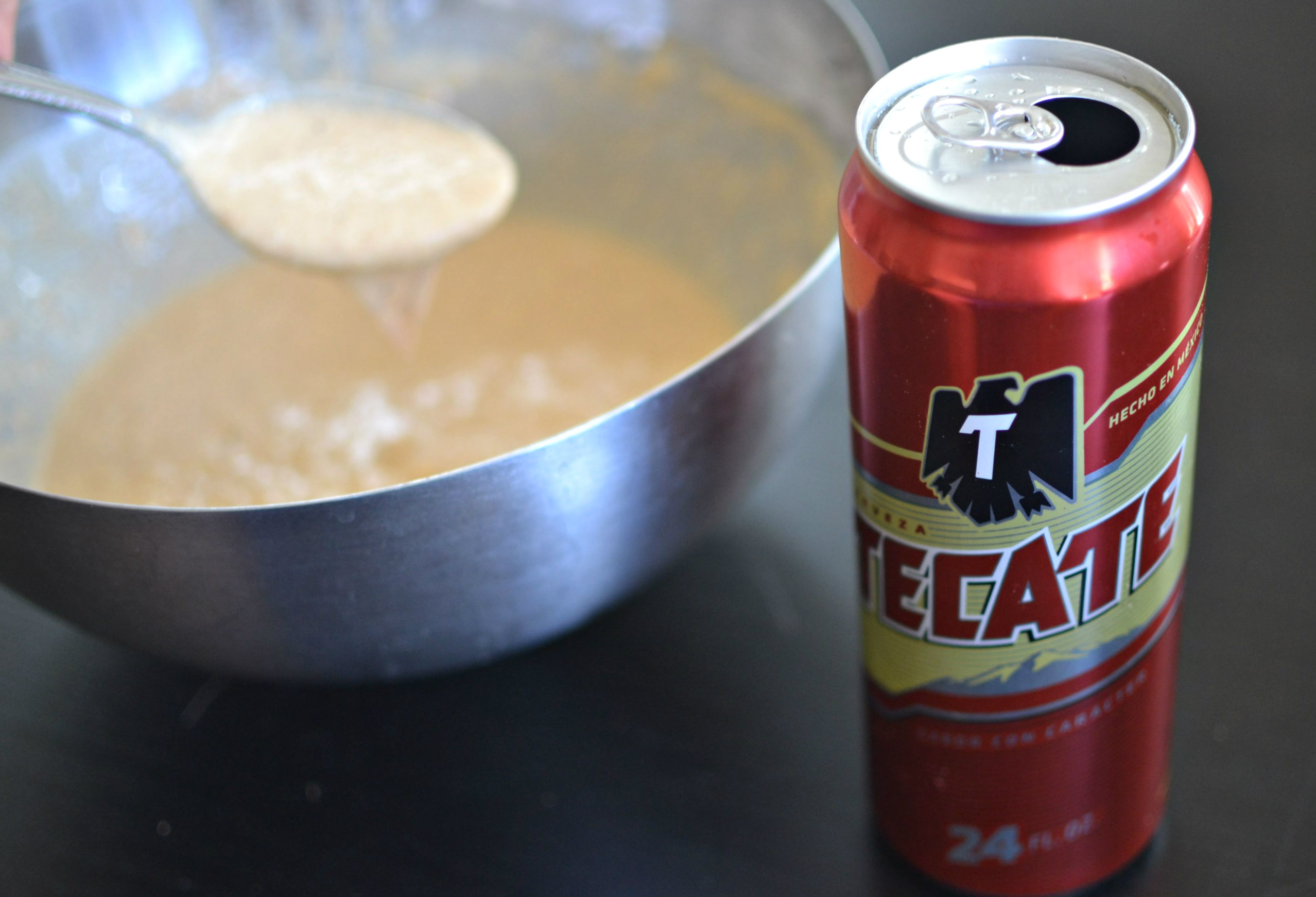 Beer Batter Waffle with Carne Asada