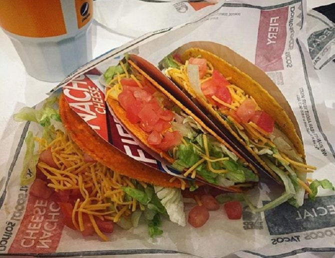 taco bell if you're trying to be healthy