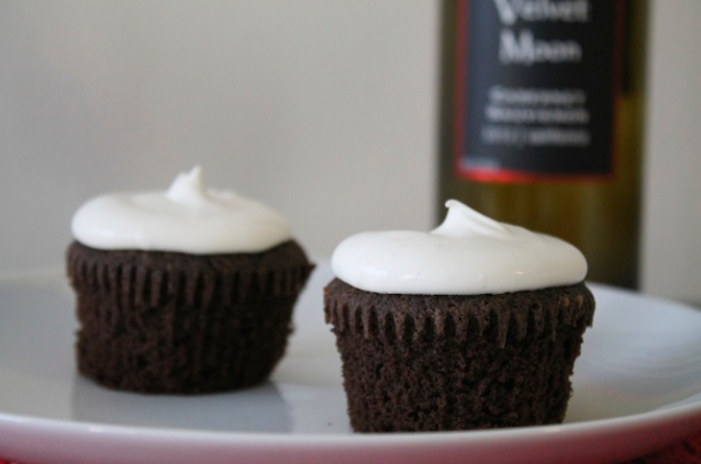 Boozy Bourbon Chocolate Cupcakes Recipe — Dishmaps