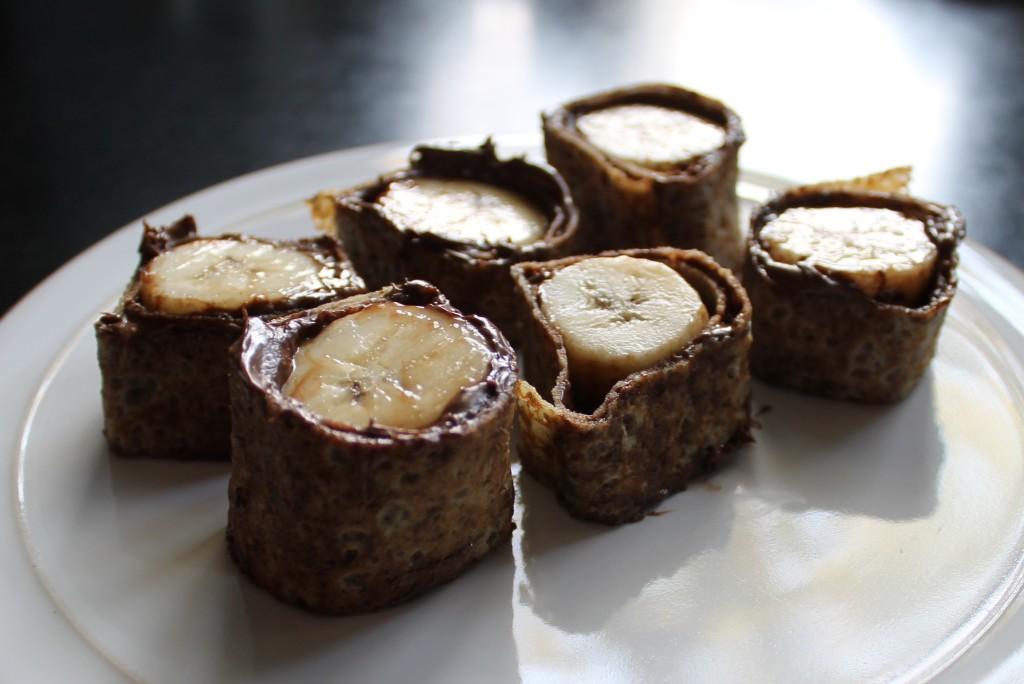 easy nutella banana dessert sushi