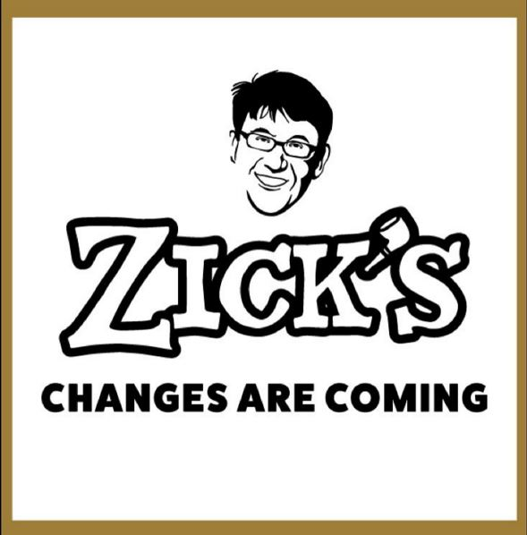 New and Improved Zick's Menu