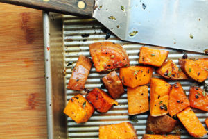 Make These Maple and Thyme Sweet Potatoes for Dinner Tonight