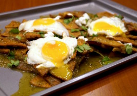 Salsa Verde Chilaquiles With Homemade Tortilla Chips