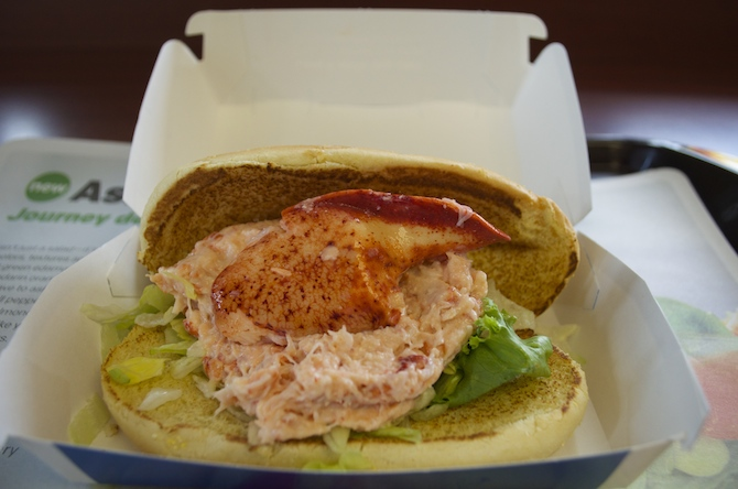 McDonald's lobster roll