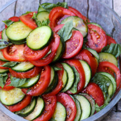 Easy and Delicious Tomato Cucumber Salad