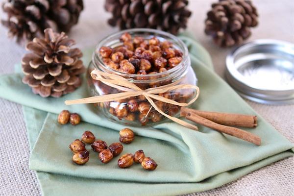 16. Honey Cinnamon Roasted Chickpeas