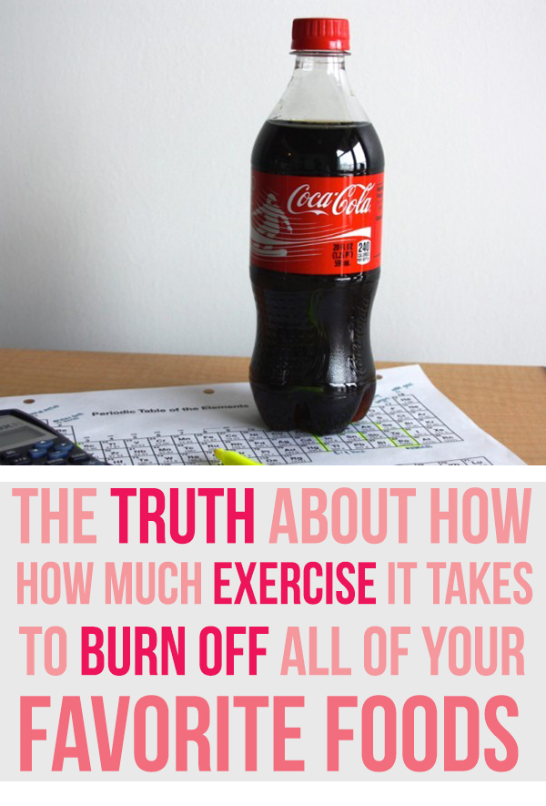 How much it takes to burn off food