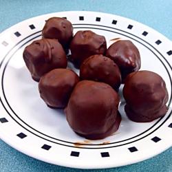 Flourless Vegan Chocolate-Dipped Cookie Dough Bites