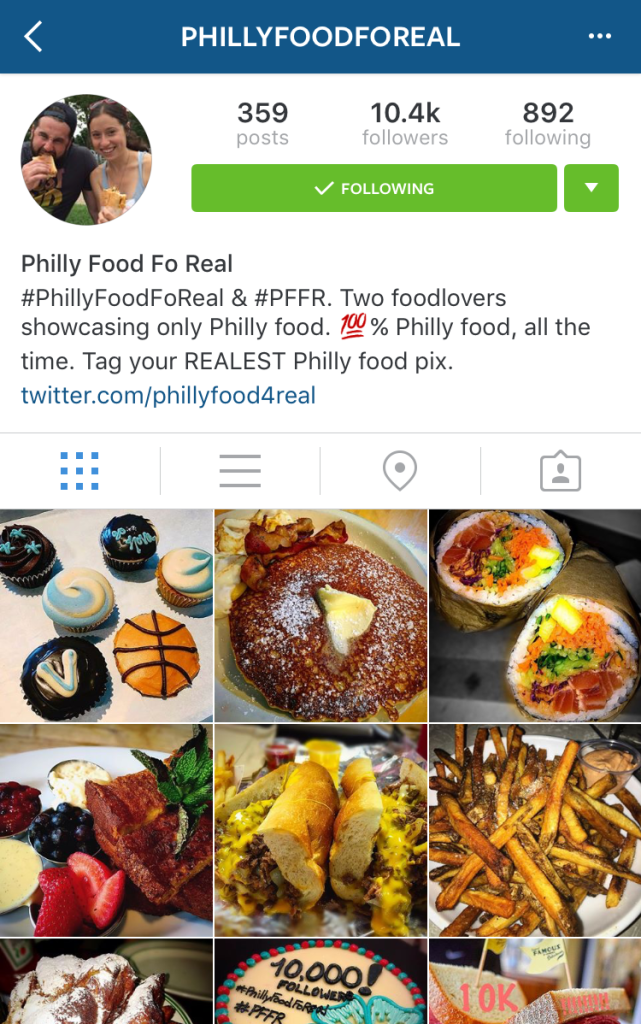 Philly Food Instagrams