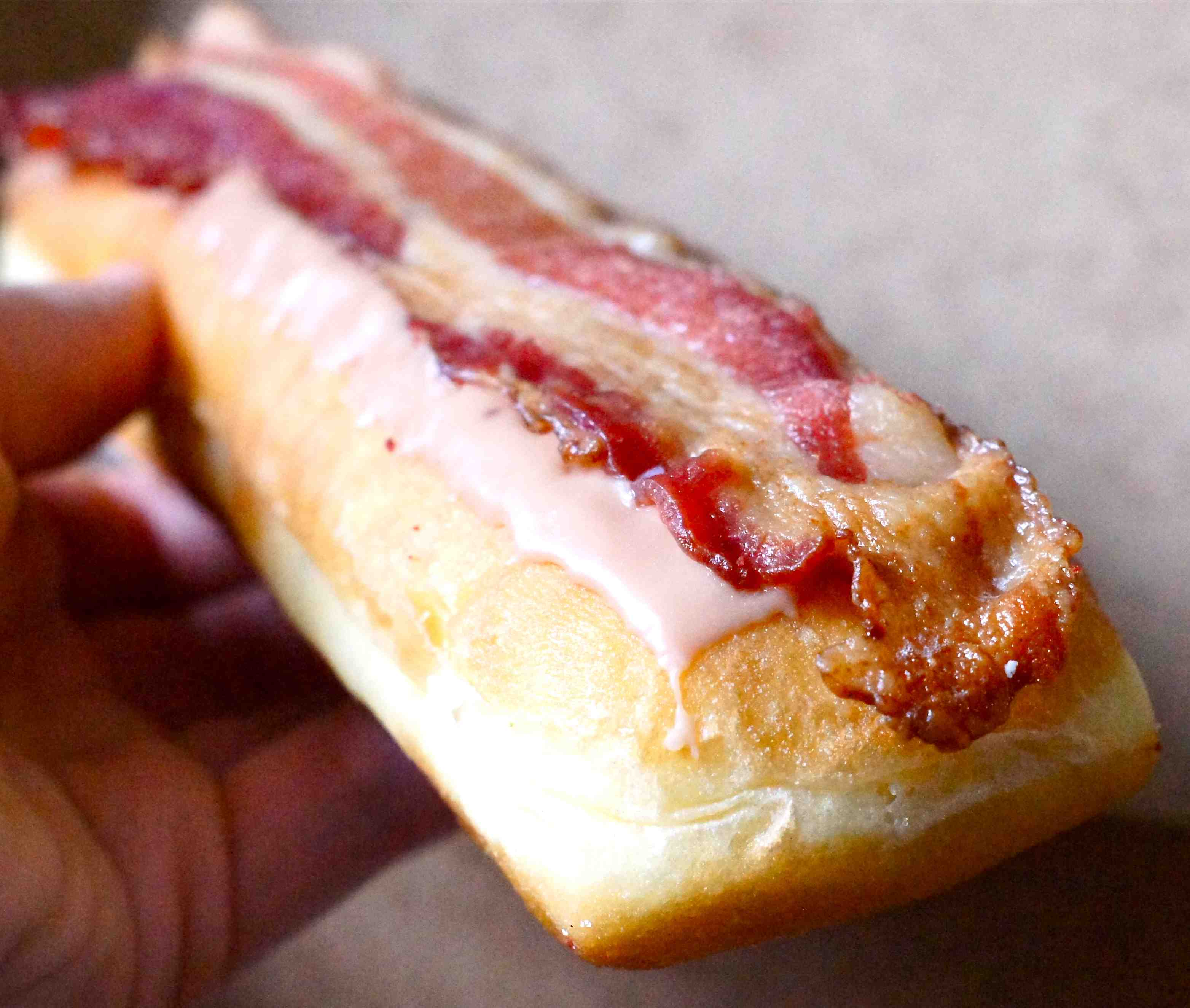 ... Best Doughnut You'll Ever Have: Bennison's Maple Bacon Long John