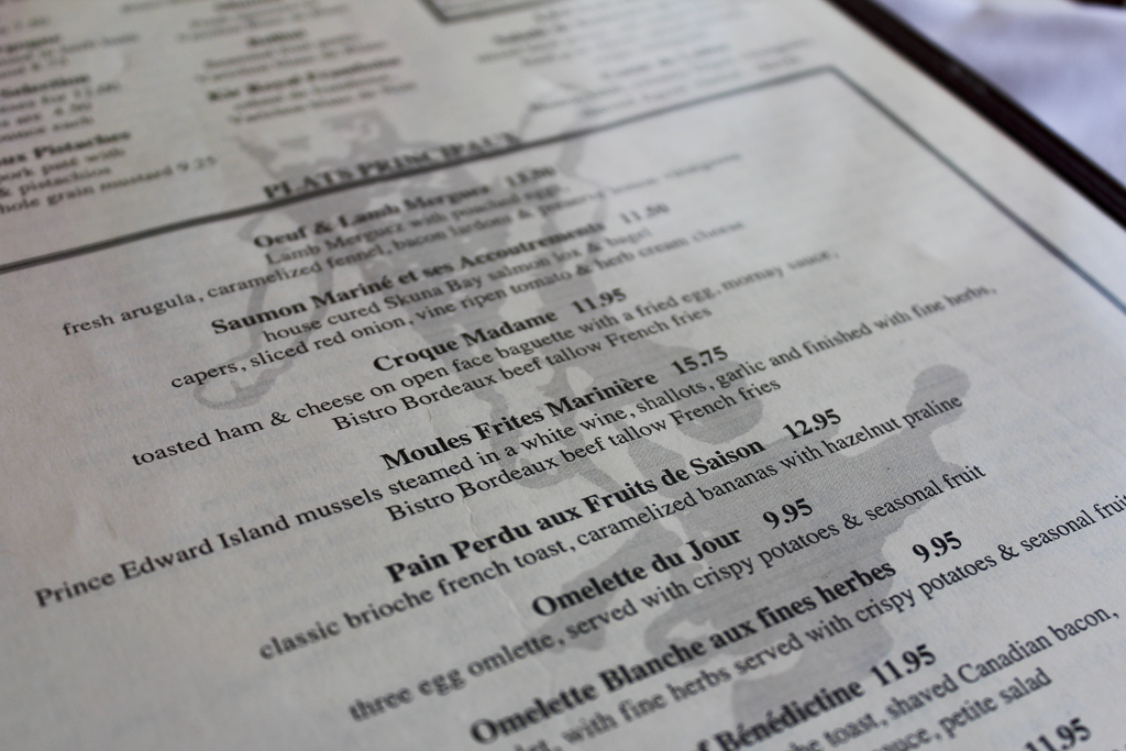 Sunday Side Up: Brunch at Bistro Bordeaux