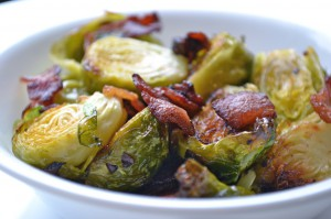 Roasted Brussel Sprouts with Bacon- by Kelda Baljon