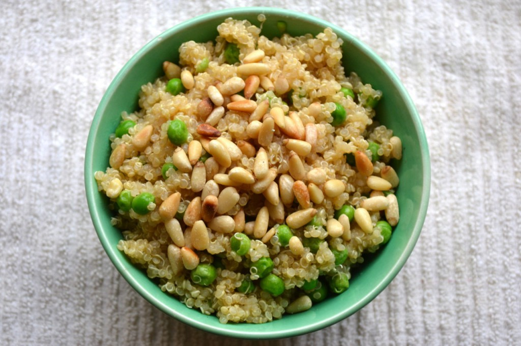 Lemon Quinoa with Peas