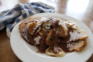Banana Chocolate Chip Pancakes- by Andrea Kang