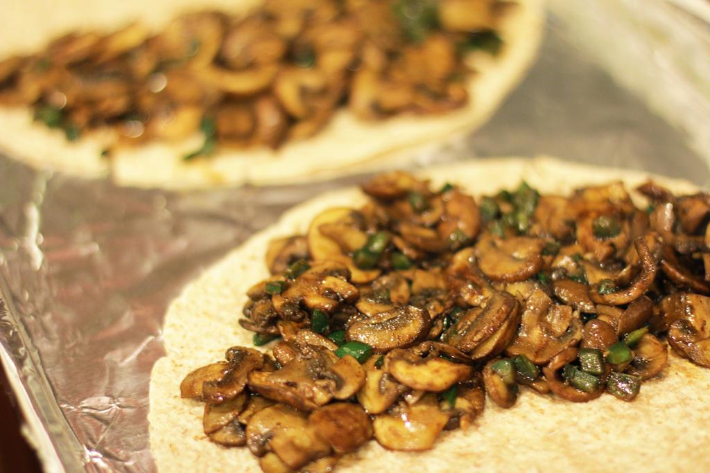 Frontera-Inspired Mushroom Trio Quesadilla