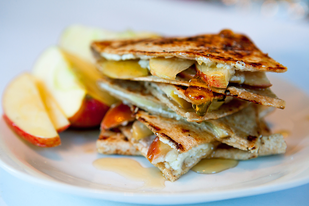 Apple, Goat Cheese and Honey Quesadilla